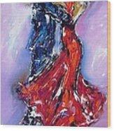 Anniversary Dance Painting  Wood Print