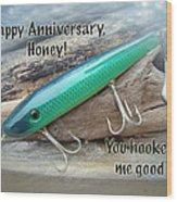 Anniversary Greeting Card - Saltwater Lure Wood Print