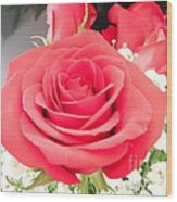 Anniversary Roses With Love 1 Wood Print
