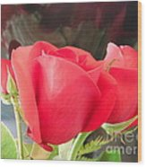Anniversary Roses With Love 2 Wood Print
