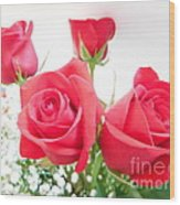 Anniversary Roses With Love 3 Wood Print