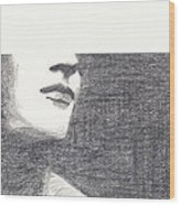 Anonymous Wood Print by Michele Engling