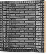 Another Brick In The Wall In Black And White Wood Print