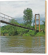 Another Bridge Over River Kwai In Kanchanaburi-thailand Wood Print
