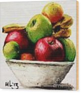 Another Fruit Bowl Wood Print