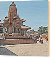 Another Hindu Temple N Bhaktapur Durbar Square In Bhaktapur -nepal Wood Print