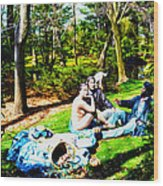 Another Luncheon On The Grass Wood Print