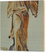 Another Perspective Of The Winged Lady Of Samothrace  Wood Print