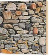 Another Stone In The Wall Wood Print