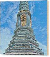 Another Stupa At Grand Palace Of Thailand In Bangkok Wood Print