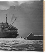 Antarctican Expedition 2013.  Ship Name Wood Print