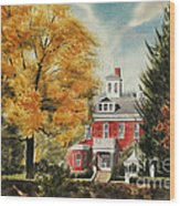 Antebellum Autumn Ironton Missouri Wood Print