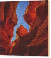 Antelope Canyon 30 Wood Print