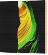 Antelope Canyon Abstract Wood Print