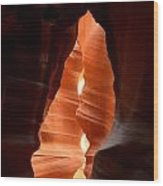 Antelope Canyon Wood Print by Carrie Putz