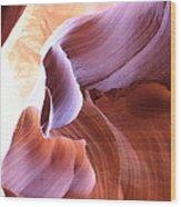 Antelope Canyon Colorful Waves Wood Print
