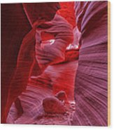 Antelope Canyon Mummy 2 Wood Print