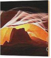 Antelope Canyon Panorama Wood Print