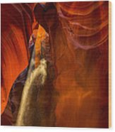 Antelope Canyon - Sand In The Light Wood Print