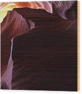 Antelope Canyon Sandstone Magic Wood Print