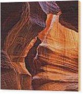 Antelope Canyon Textures Wood Print