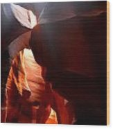 Antelope Canyon Upper 4 Wood Print by Carrie Putz