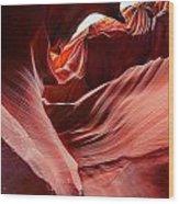 Antelope Crevice Wood Print