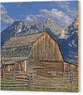 Antelope Flats Grand Tetons Wood Print
