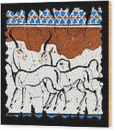 Antelope Of Akrotiri Wood Print