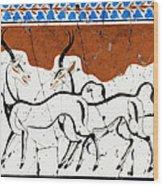 Antelope Of Akrotiri - Study No. 2 Wood Print