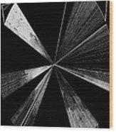 Antenna- Black And White  Wood Print