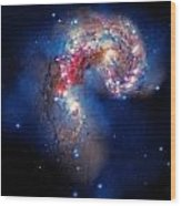 Antennae Galaxies Collide 2 Wood Print