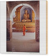 Anthony Howarth Collection - Gold - Saffron And Gold - Burma Wood Print