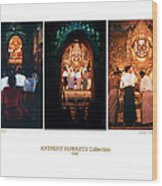 Anthony Howarth Collection - Gold - Simply Buddha? Mandalay Wood Print
