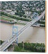 Anthony Wayne Bridge Toledo Ohio Wood Print
