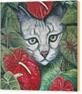 Anthurium Assassins Wood Print