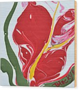 Anthurium Fire Wood Print