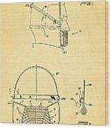 Anti Eating Mask Patent Art 1982 Wood Print by Ian Monk