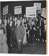 Anti-nazi Germany Parade In Los Wood Print