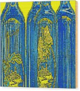 Antibes Blue Bottles Wood Print by Ben and Raisa Gertsberg