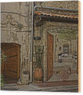 Antibes France Scene Paintings Dsc02278  Wood Print