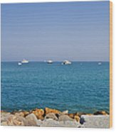 Antibes - Superyachts Of Billionaires Wood Print by Christine Till