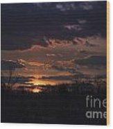 Antietam Sunset Wood Print