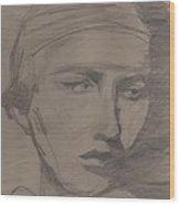Antigone By Jrr Wood Print