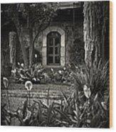 Antigua Garden Wood Print