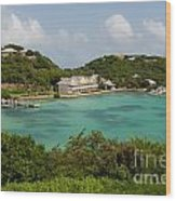 Antigua Long Bay Wood Print
