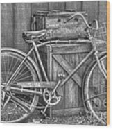 Antiquated Bike Wood Print