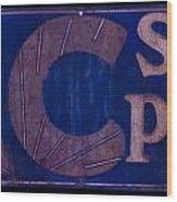 Antique Ac Spark Plug Sign Wood Print