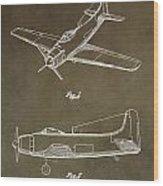 Antique Airplane Patent Wood Print