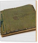 Antique Autograph Book Wood Print